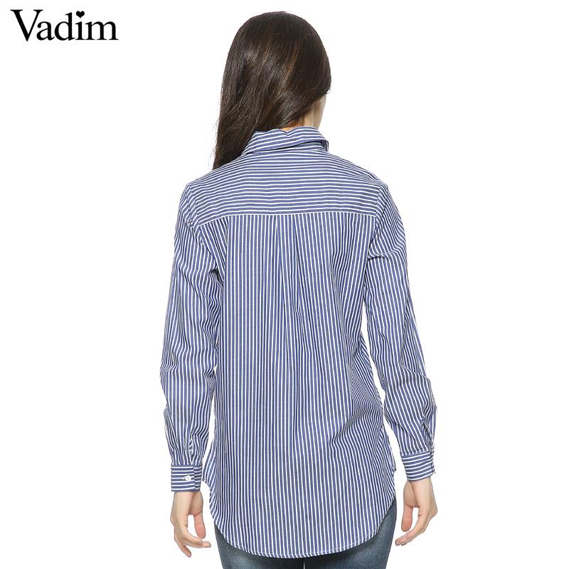 HTB12wOLQFXXXXXqXXXXq6xXFXXXP - Women floral dragonfly embroidery full cotton striped blouse long shirt