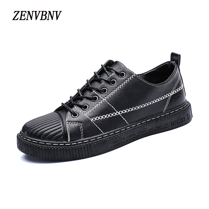 ZENVBNV Retro Style Leather Shoes Men Lace-up Flats Shoes for Autumn&Winter Fashion Breathable Shell Toe Solid Casual Shoes Men free shipping 2017 new black brown autumn and winter full grain leather casual shoes men s fashion flats lace up shoes for men