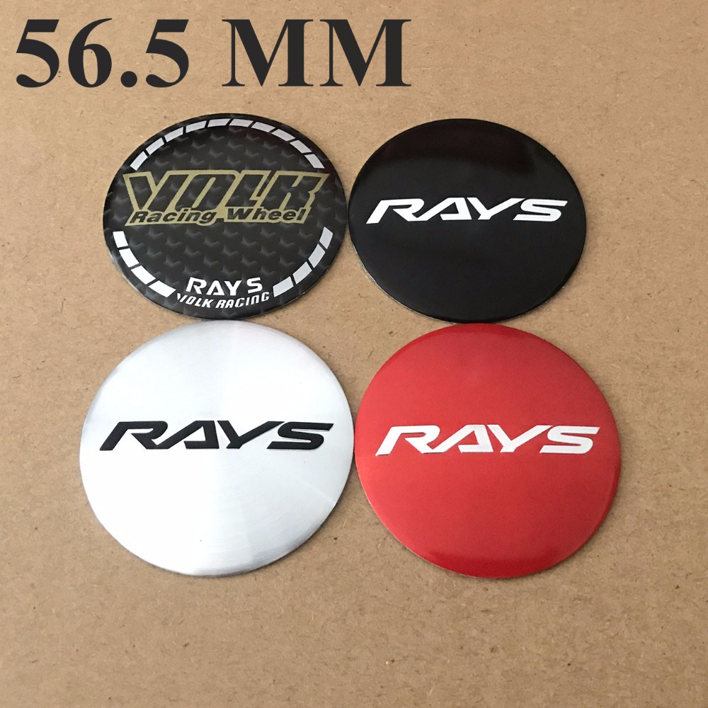 KOM POWER 56.5MM Rays Wheels Centre Hubs Caps RAYS Sticker Emblems Wheel Covers Caps Sticker RAYS Racing Letter Logo Rays Cap