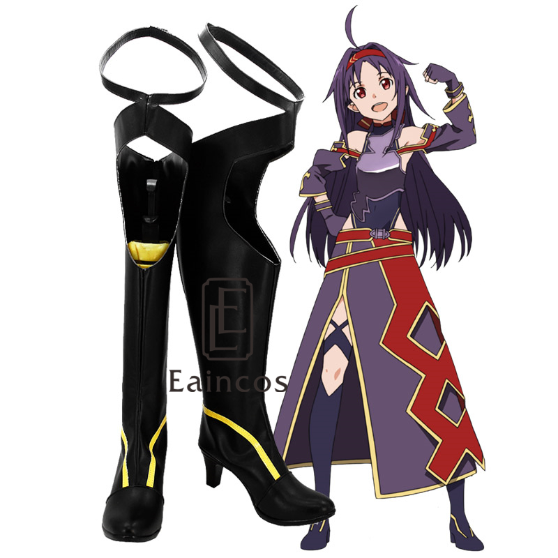YKJ Anime Cosplay Chaussures Chaussures /Étudiant Masquerade Chaussures Femmes Chaussures Sc/ène De F/ête De No/ël Chaussures sur Mesure,Brown-35