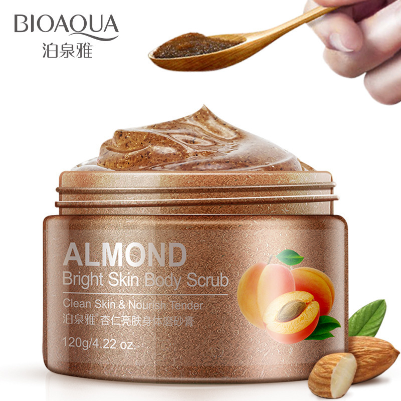 BIOAQUA Almond Skin Facial Scrub Cleansing Face Cream Hydrating Face Scrub Exfoliating Lotion Mud Exfoliating Gel Cosmetics