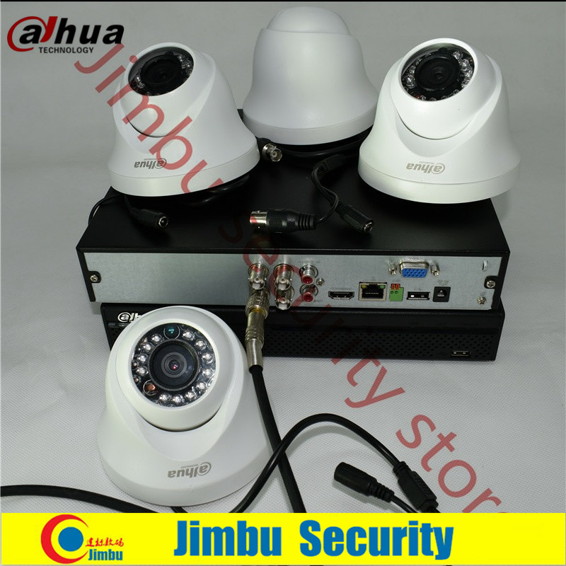 Dahua 720P hdcvi kit 4ch surveillance system XVR4104HS Video Recorder HDCVI HAC-HDW1100C infrate 20M cctv security camera 4ch hdcvi video multiplexer over one coaxial cable connect 4ch cctv 720p 1080p hd cvi camera security repeater 100m distance