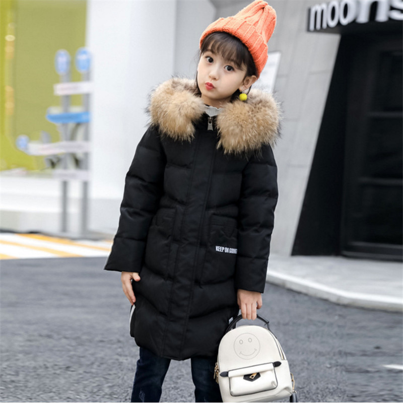 2017 Winter Down Jackets For Boys & Girls Children Winter Coat Outerwear New Fashion Hooded Thicken Warm Overcoat High Quality boys thick down jacket 2018 new winter new children raccoon fur warm coat clothing boys hooded down outerwear 20 30degree