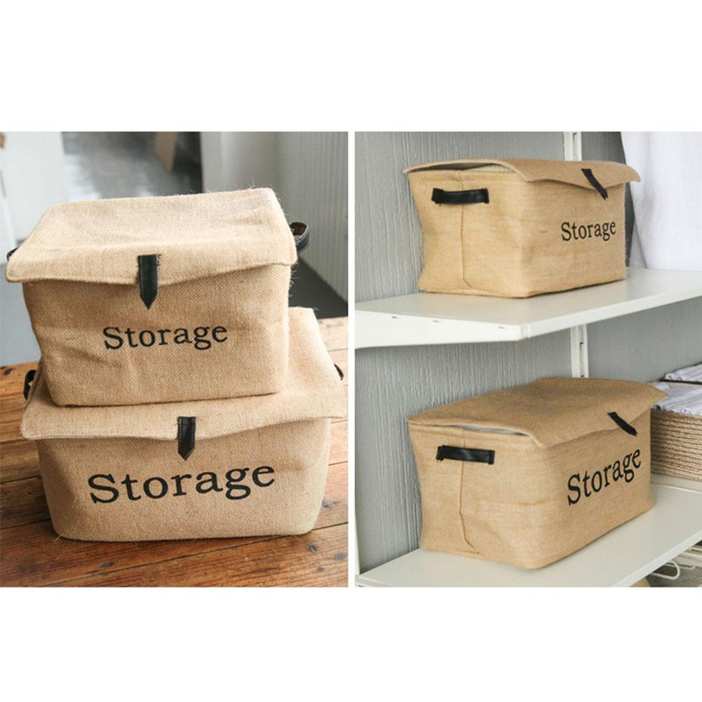 Foldable Square Linen Folding Home Storage Dirty Clothes Storage Laundry Basket Sundries Organizer Toy Home Storage Box
