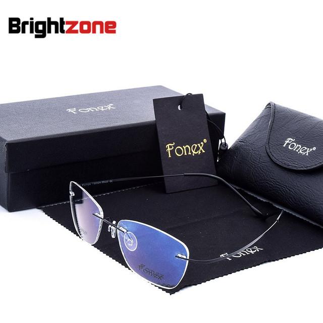 Nuevo patrón de hombre de negocios de alta gama asuntos exceden luz gafas titanium marco de aleación de gafas de prescripción óptica gafas de grau