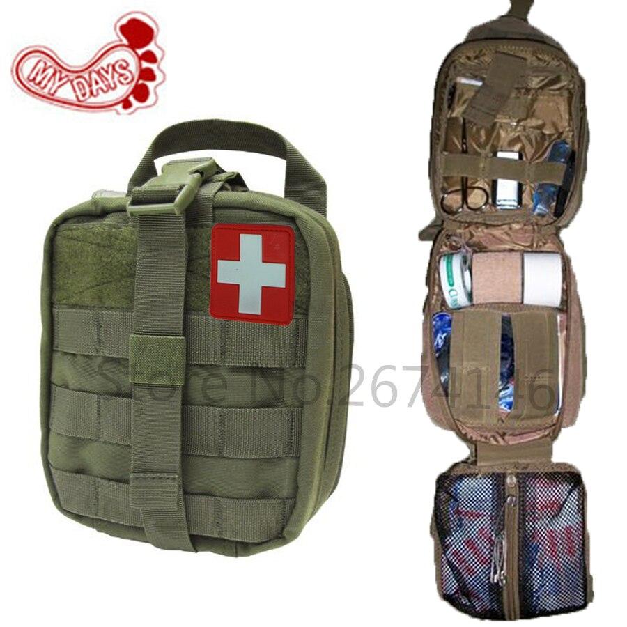 Prix pour MES JOURS Tactique Ifak de Premiers soins Sac MOLLE EMT Rip-Loin Médical Militaire Utility Pouch paquet de sauvetage pour Voyage chasse randonnée
