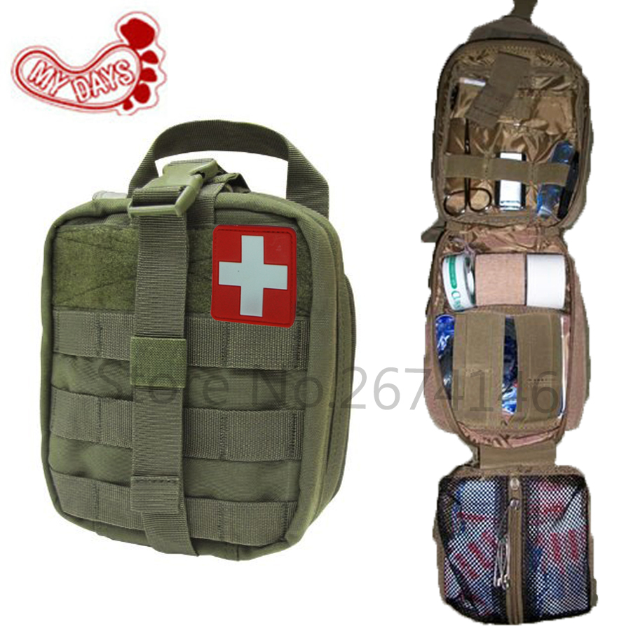 MY DAYS Tactical Ifak First Aid Bag MOLLE EMT Rip-Away Medical Military Utility Pouch rescue package for Travel hunting hiking first aid bag only molle medical emt cover outdoor emergency military program ifak package travel hunting utility pouch j2