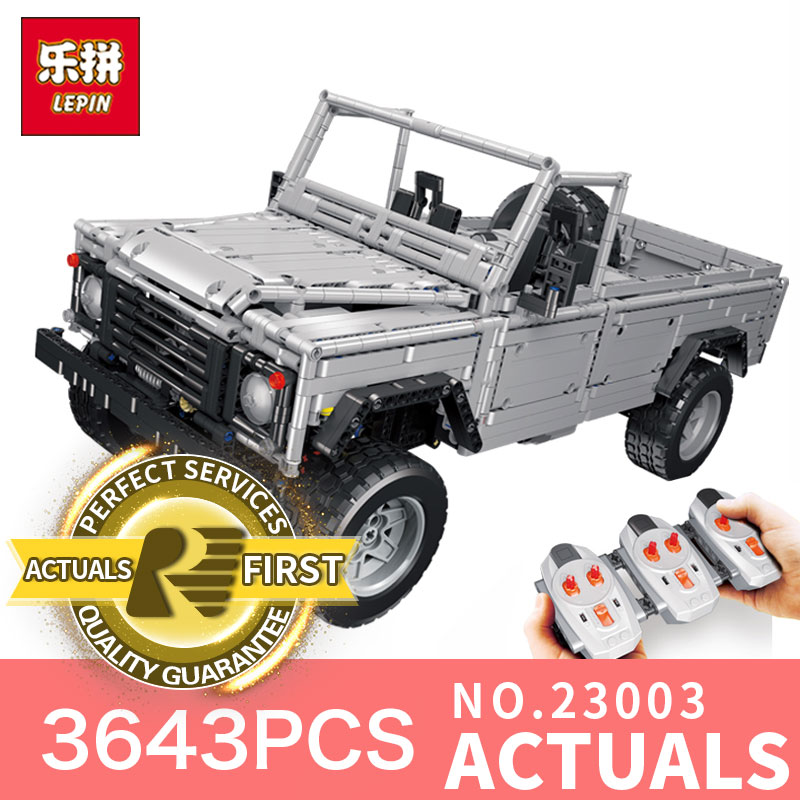 Lepin 23003 Technic series 3643Pcs MOC RC Wild off-road vehicles LegoINGl model Building Blocks Bricks toys for boys gifts lepin 20011 technic series super classic limited edition of off road vehicles model building blocks bricks compatible 41999 gift