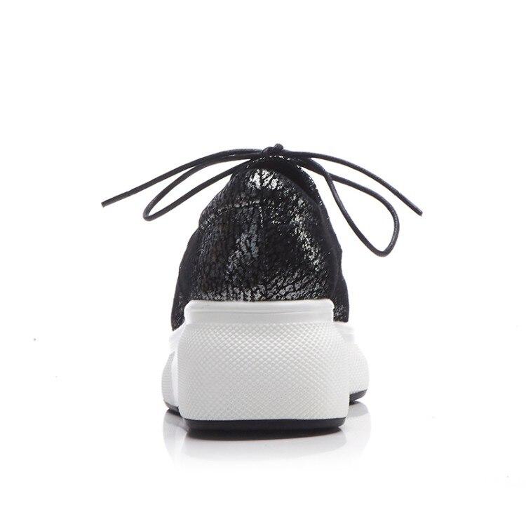 Occasionnels forme Bout Totem Plate Black Argent Robe En Chaussures Mocassins Pointu Soirée Femmes Couleur silver De Creeper 2018 Plate Mouton Mljuese Peau CqaOvO