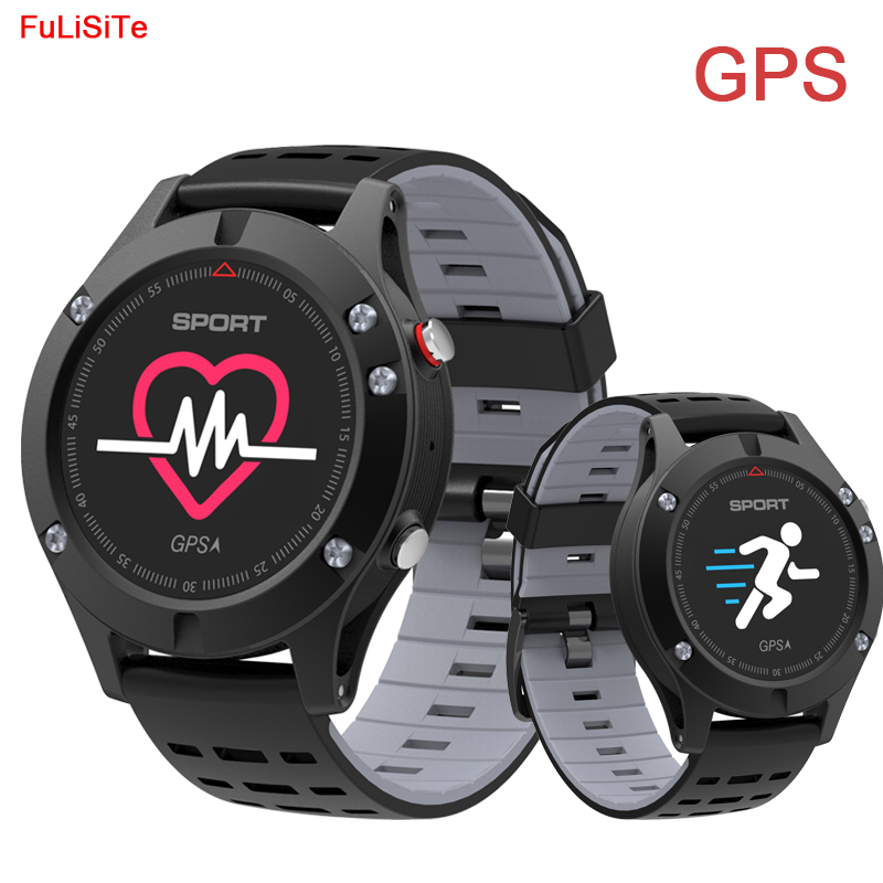 <font><b>No.1</b></font> <font><b>F5</b></font> Bluetooth GPS Smart Watch Touch Color Screen Heart Rate Altimeter Barometer Thermometer Smartwatch for Running Sports image