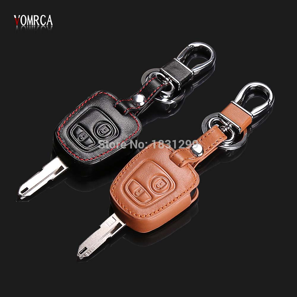 New Arrival High quality Leather key chain ring cover holder,car styling For Peugeot 107 206 207 307 408 For Citroen C2 C3 C4 new arrival high quality leather key chain ring cover holder car styling for peugeot 107 206 207 307 408 for citroen c2 c3 c4