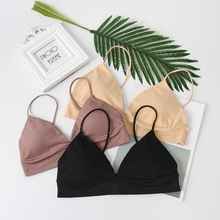 2020 French Thin Shoulder Strap Invisible No Steel Ring Large Size Bra Solid Col