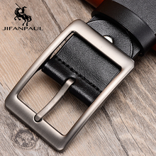 JFANPAUL men genuine leather belt new fashion high quality designer beautiful alloy pin buckle style free shipping