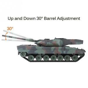 Image 5 - הנג ארוך 2.4GHz RC נמר טנק 1/16 שלט רחוק גרמנית נמר 2 A6 קרב טנק העולם סימולציה קול טנק דגם צעצוע
