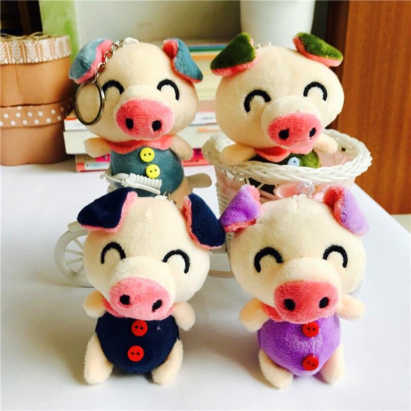 Ivyye 10 Cm Lächeln Schwein Anime Gefüllte Plüsch Puppen Kette Anhänger Flauschigen Ornament Puppen Schlüsselanhänger Cartoon Weiche Spielzeug Nette Geschenke Neue Angenehme SüßE Sammeln & Seltenes Stofftiere & Plüsch