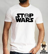 Stop Wars T shirt Star Parody Political Peace Symbol Mens Gift Top S - XL Free shipping