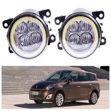 For Renault GRAND SCENIC III JZ0 JZ1  MPV  2009-2015 Angel eye LED fog lamp 9CM daytime running light Spotlight DRL OCB lens