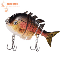 Fishing Wobblers Lifelike 6 Segment Isca Artificial 3D Fish Fishing Lure Pesca Bait Swimbait Crankbait Hard Bait Fishing Tackle