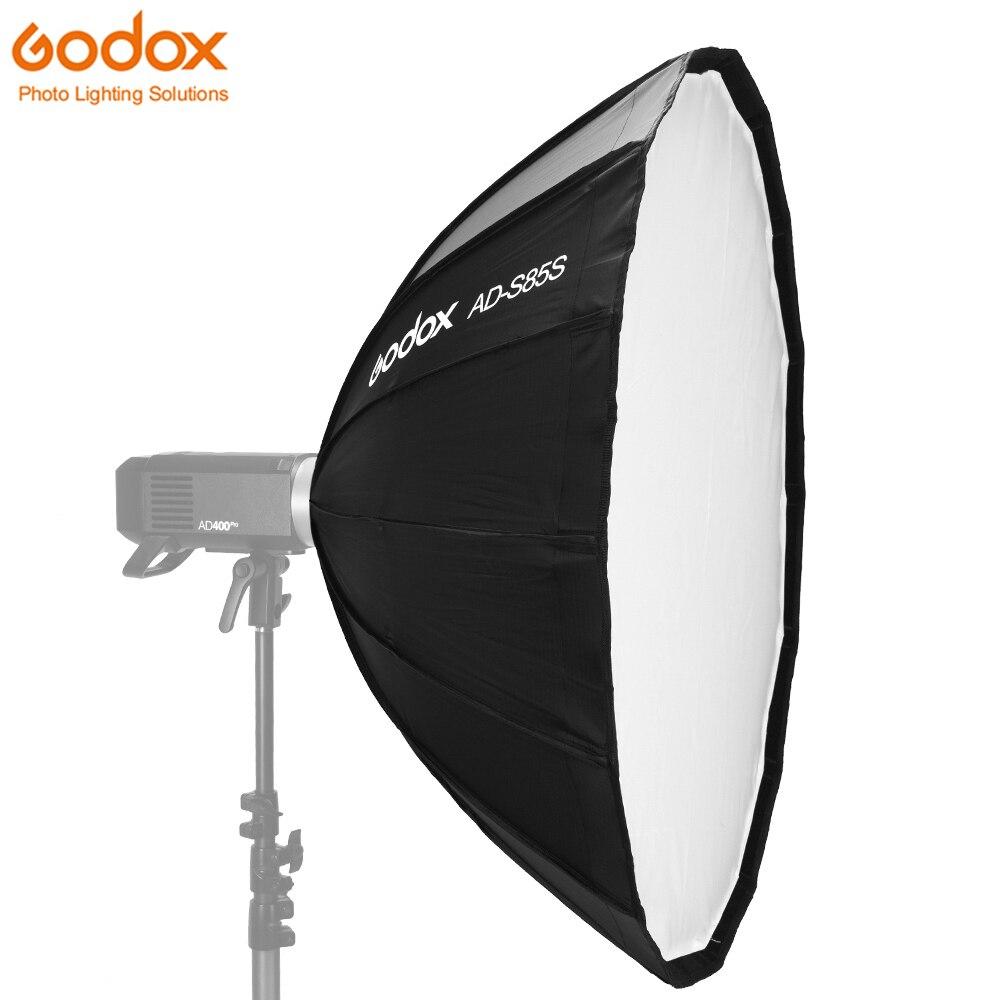 Godox Deep Parabolic Softbox AD-S85S 85cm Specialized Accessories with Honeycomb Grid for Godox AD400Pro Flash Silver InteriorGodox Deep Parabolic Softbox AD-S85S 85cm Specialized Accessories with Honeycomb Grid for Godox AD400Pro Flash Silver Interior