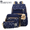 Fashion Composite Bag Preppy Style Backpacks For Teenage Girls High Quality Canvas School Bags Cute Bear