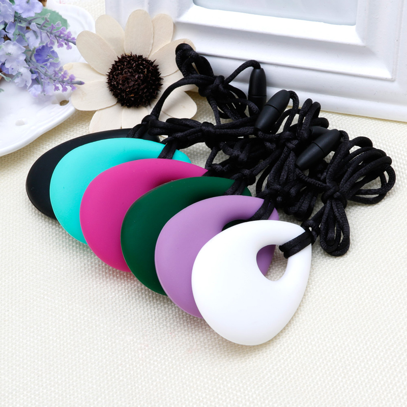 Silicone Feather Teething Necklace Baby Teether Autism Sensory Chew BPA Free