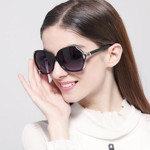 IVE New Sunglasses Women Fashion Brand Designer Flower Decorate Glasses Large Frame Sun Glasses Women KD9554
