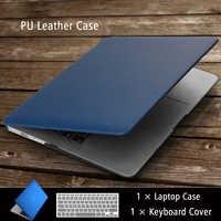 Casos de alta qualidade do portátil do couro do plutônio do negócio para mac apple macbook ar pro retina 11 12 13 15 polegada + teclado capa