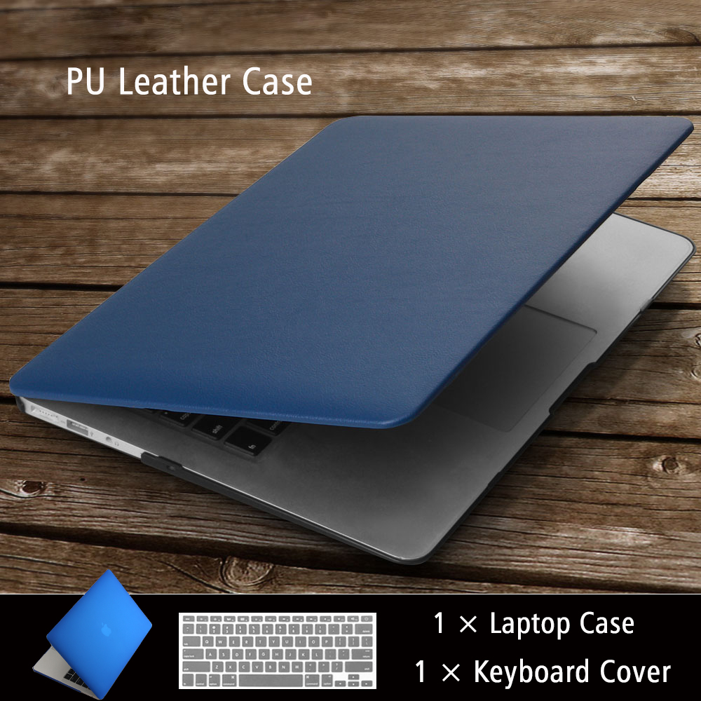 High quality Business PU Leather Laptop Cases for <font><b>MAC</b></font> APPLE MacBook Air Pro Retina 11 12 13 15 inch +Keyboard <font><b>cover</b></font> image