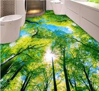 3d Flooring Wallpaper Custom Waterproof 3d Pvc Flooring Crown Of A Tree Blue Sky 3d Bathroom