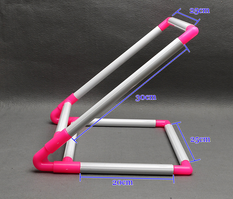 diy craft necessary tool v shape assembly pvc cross stitch cloth clip holder rack desktop pvc embroidery frame