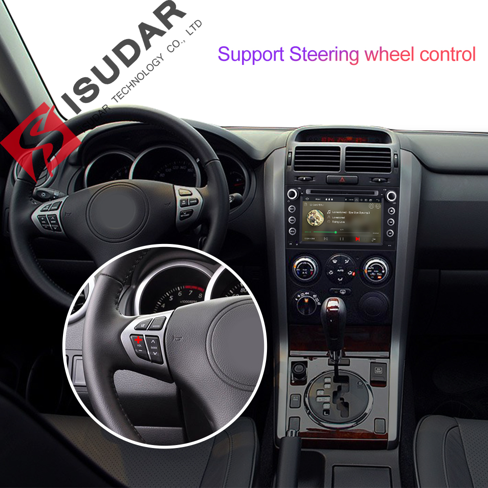 Isudar Autoradio For SUZUKI/Grand Vitara Car Multimedia player Android 9 2 Din DVD player GPS 4 Core RAM 2GB ROM 16GB FM Radio