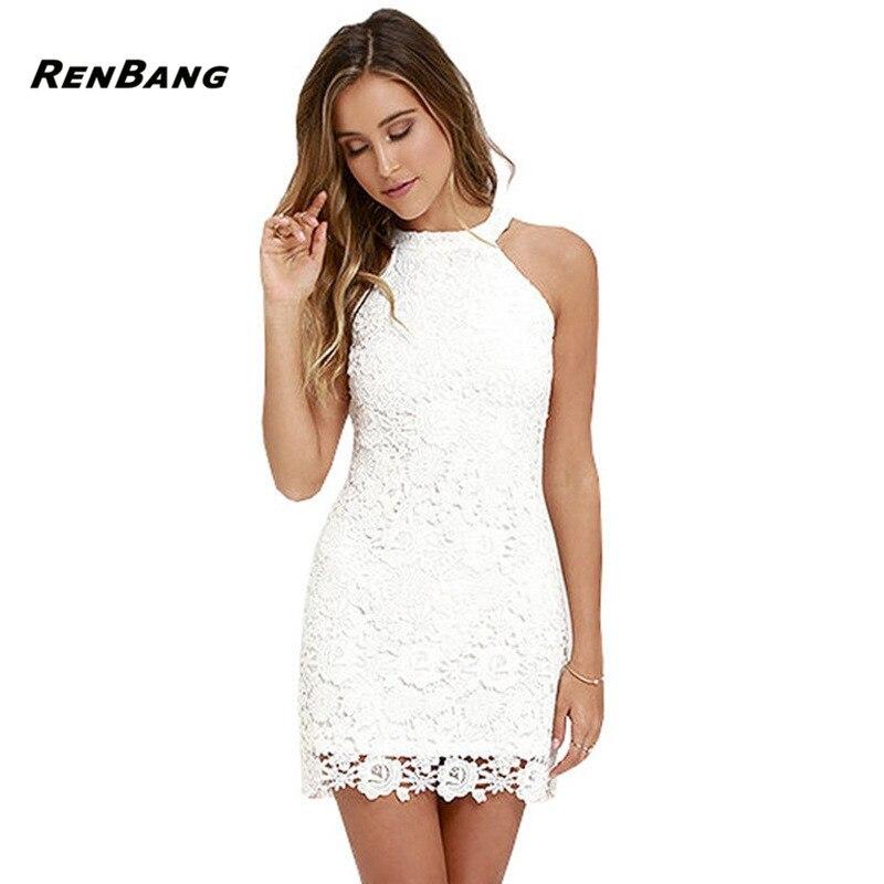 RENBANG Vestidos Lace font b Dress b font Elegant Women font b Short b font font