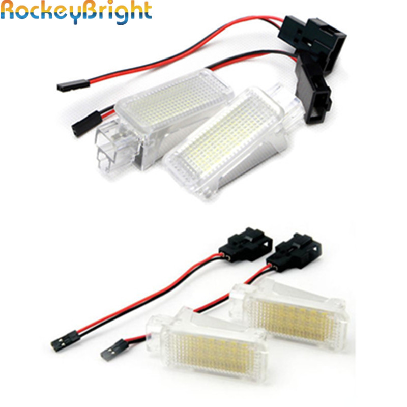 Rockeybright 1set Car Interior lamp auto footwell light for Audi A2 A4 Under Door Trunk Light LED Door Courtesy backlight Lamps