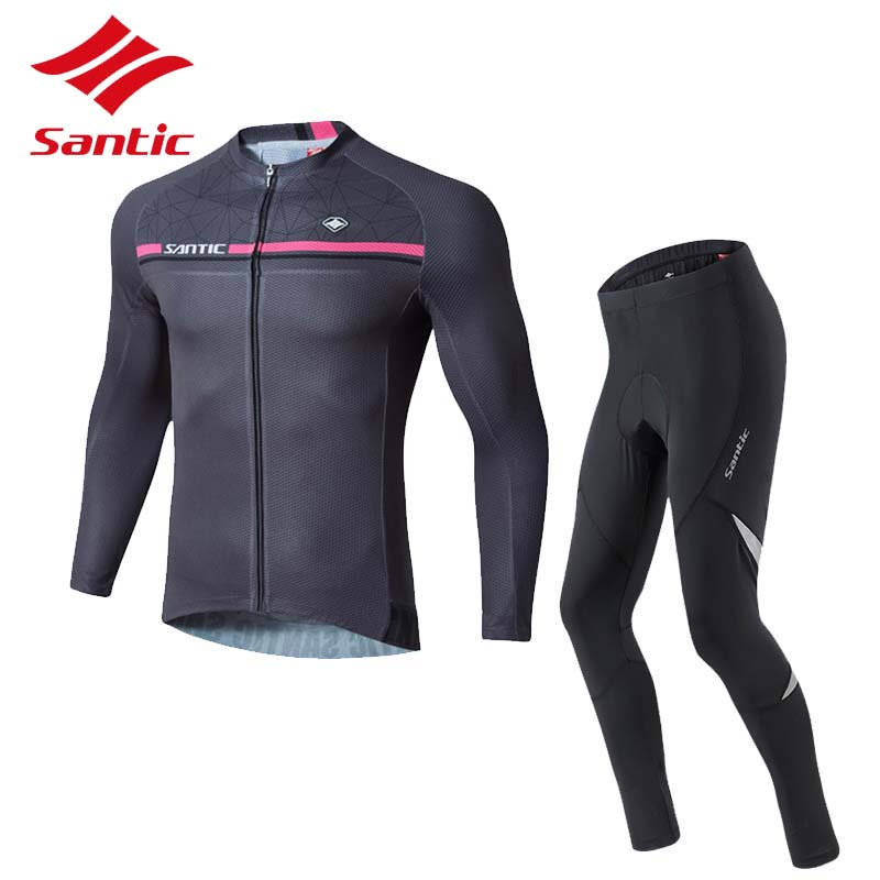 Santic Cycling Jersey Set 2018 Men Long Sleeve Breathable Bike Bicycle  Jersey Cycling Clothing Pro Pad Long Pants Ropa Ciclismo 84cce081d