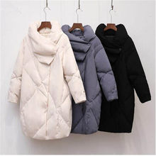 Real Raccoon Fur Collar 2019 New Fashion Winter Jacket Women White Duck Down Jacket Female Coat Outerwear Super Warm Long Parka(China)