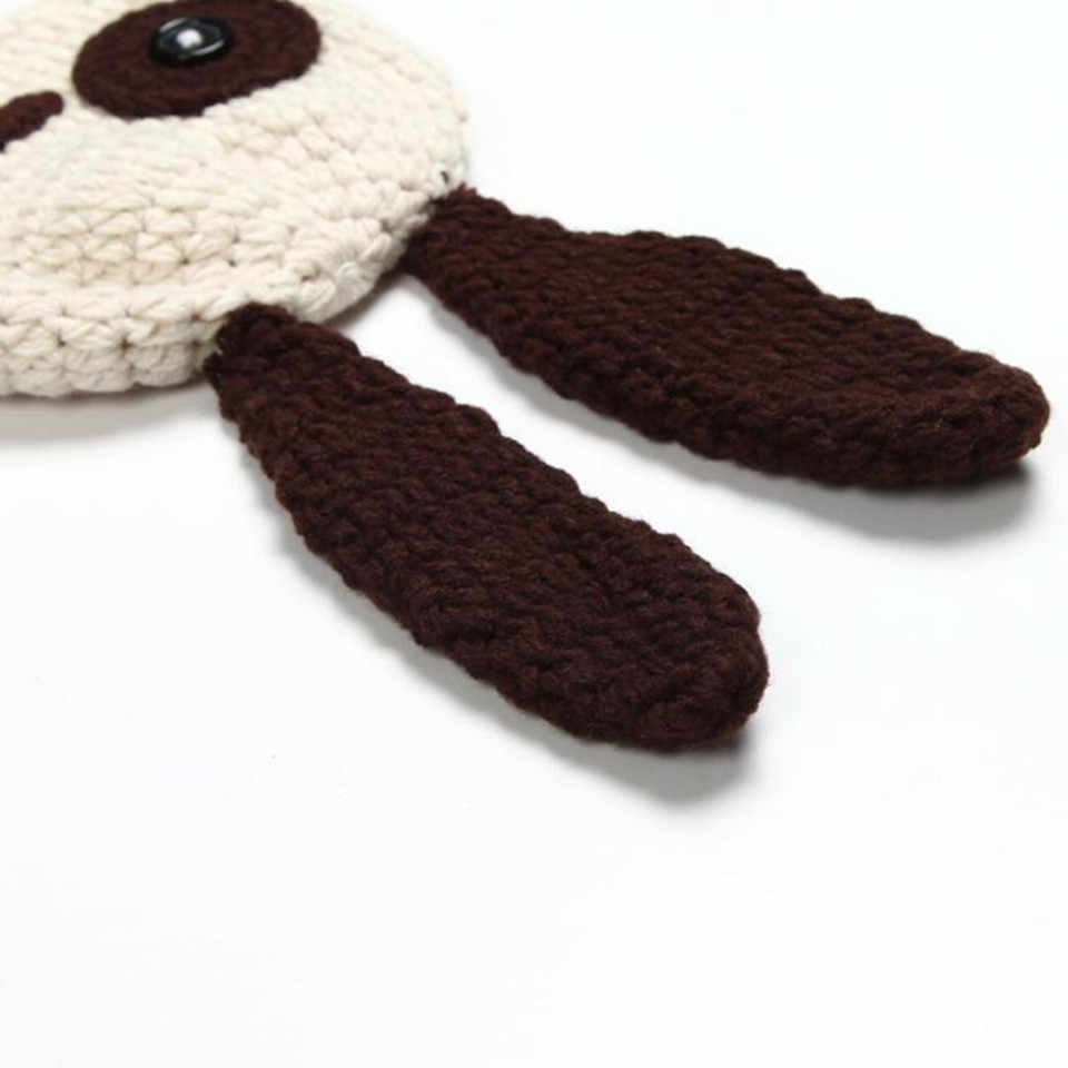 b167cce2487c1 ... Lovely Puppy Dog Newborn Baby Outfits Knitted BABY Boys Coming Home  Clothes Set Crochet Infant Baby ...