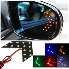 2PCS 14 SMD LED Motorcycle Brake Turn Signal Light Arrow Panels Light Car Side Mirror Rear View Turn Signal/Indicator Light