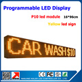 Outdoor LED display p10 sing yellow color led sign for store bank hospital etc.9''*40'' waterproof text led screen outdoor