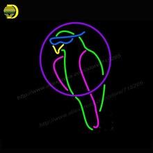 Неоновый Знак Попугай Тики Бар Знак Неонового Света Стеклянная Трубка аркады Пива неоновые Лампы Афиша ручной персонализированные Освещенный Знак В. Д. 17×14
