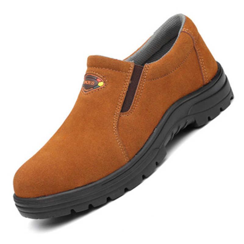 Летняя дышащая обувь для электросварщика, страховая обувь для труда, мужская, не разбивающаяся, не прокалывающая, со стальным носком, рабочая, безопасная, старая обувь