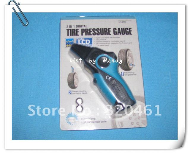 EM6083 2-in-1 Digital Tire Pressure & Tread Gauge with Built-in Tire Vein Ruler fast delivery--list by Mandy