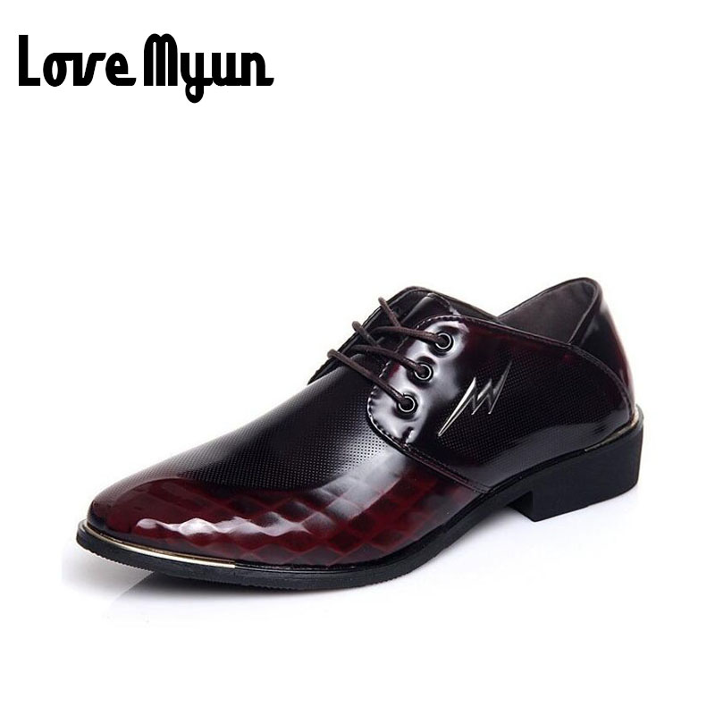Fashion red dress shoes