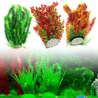 Fish Tank Ornament Simulation Water Plant Underwater Aquarium Plastic Decor 46cm #X109Q#
