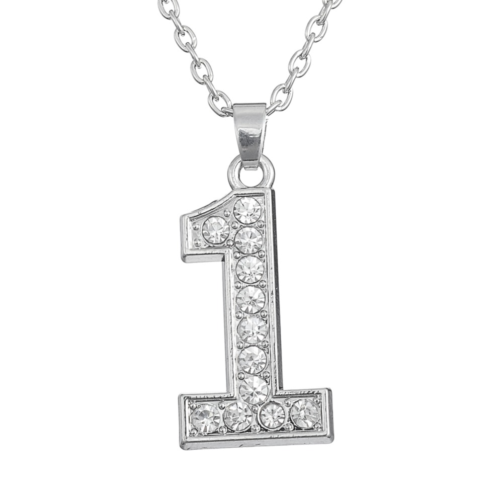 My shape sports number 1 rhinestone pendant necklace in clear my shape sports number 1 rhinestone pendant necklace in clear crystal for women girls in pendant necklaces from jewelry accessories on aliexpress aloadofball Choice Image