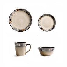 ANTOWALL Innovative Mosaic Western Porcelain Tableware Steak Pasta Plate Dish Salad Bowl Mug Personalized Ceramic Dinnerware Set
