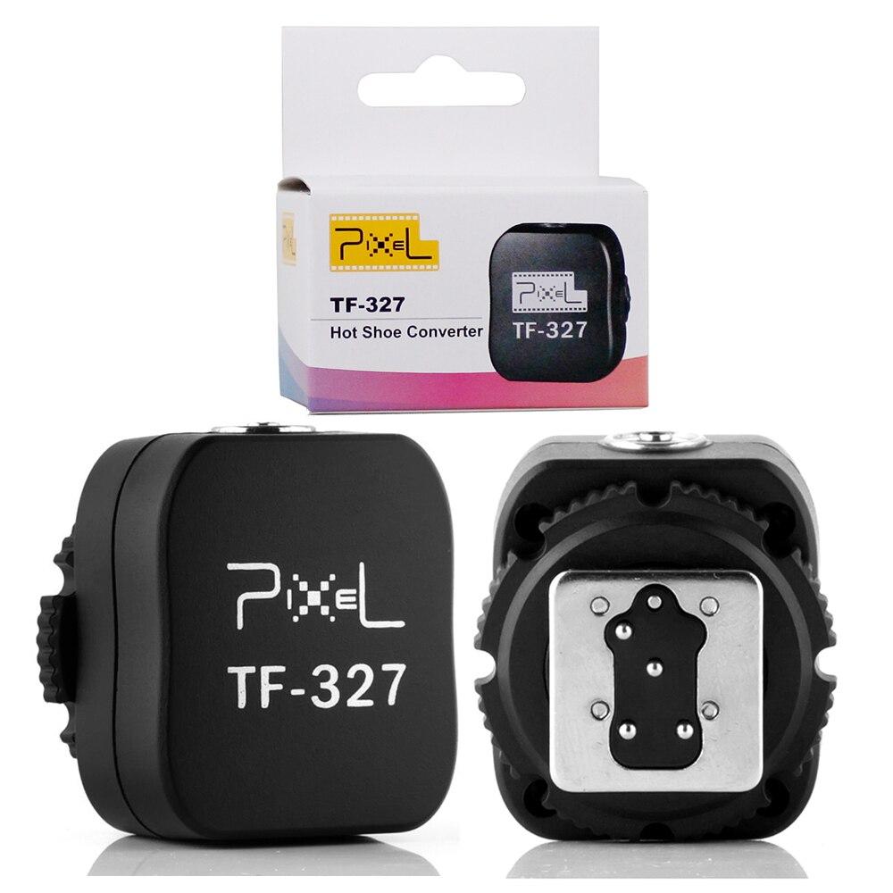 89693dd24 Pixel TF-327 Hot Shoe Converter para PC Sync Soquete Converter Adapter para  Nikon