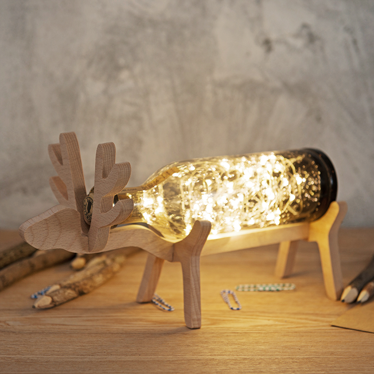 все цены на  The deer lamp, craft glass fawn night light northern wind lamp  онлайн