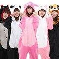 Оптовая Panda Стежка Единорог Onesies Unisex Пижамы Косплей Теплый Пижамы С Капюшоном Домашняя Одежда для Животных Пижамы
