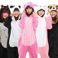Comercio al por mayor de la Panda Stitch Unicorn Unisex Franela Con Capucha Pijamas Traje Cosplay Animal Bodies Pijamas Para Adultos Mujeres