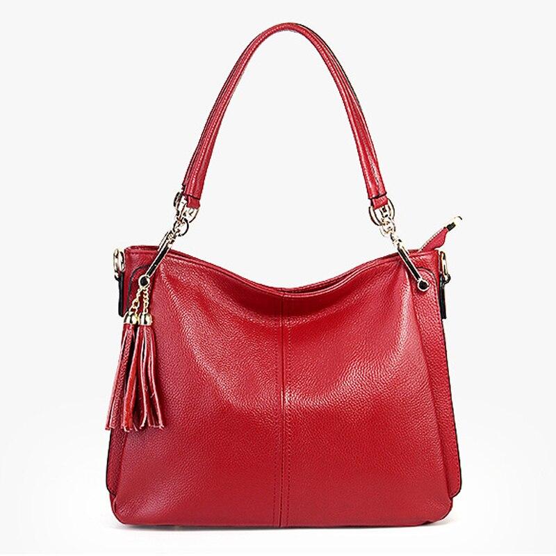 Bolso bandolera de cuero genuino para mujer bolso de mano para mujer bolsos y monederos de moda
